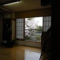 2階宴会場の舞台から見る【桜】