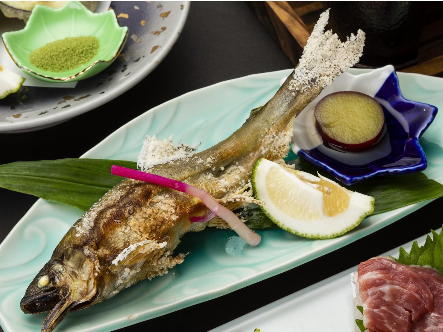 【会席】鮎の塩焼き