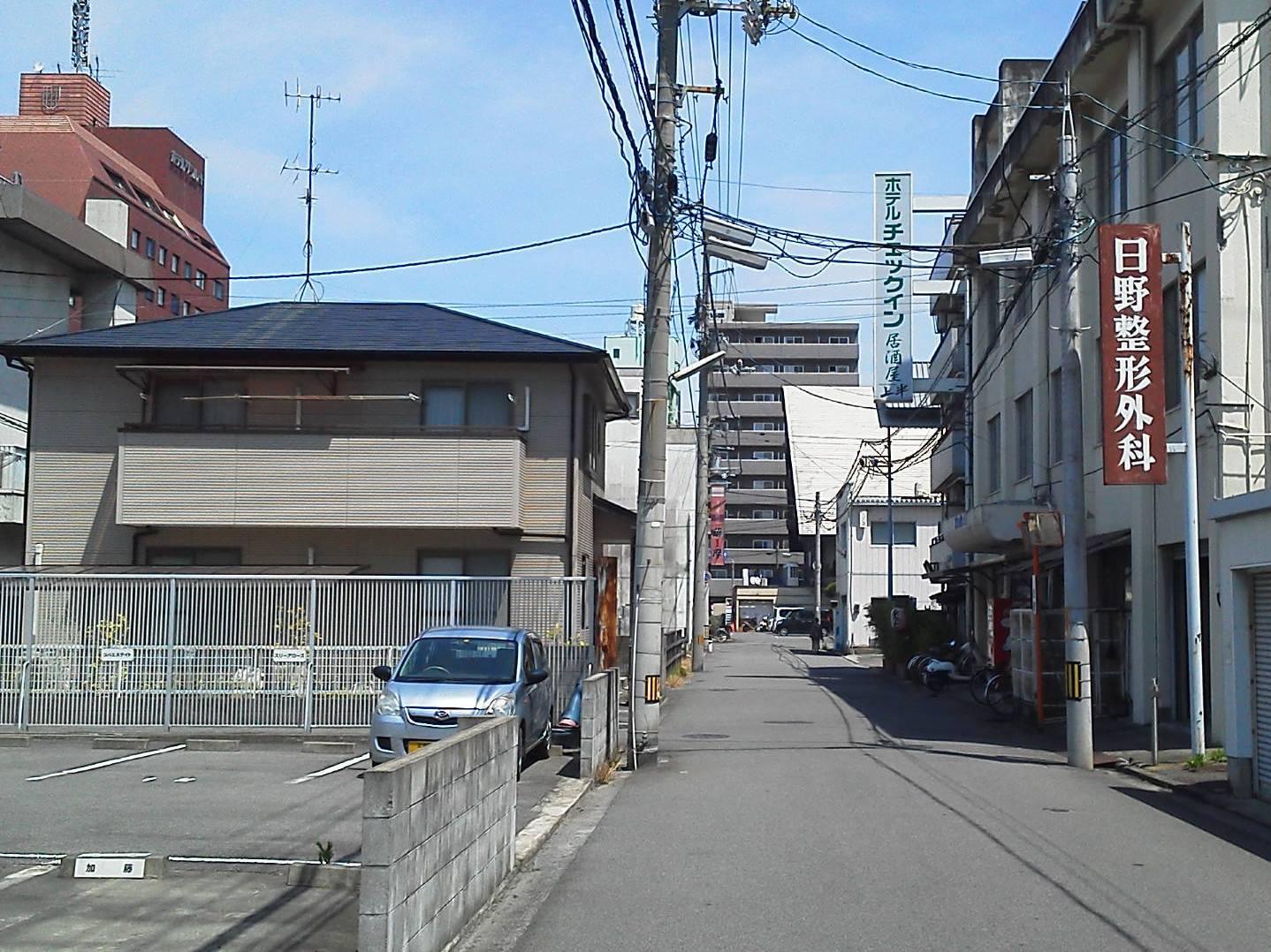 JR松山駅からホテルの順路(5)