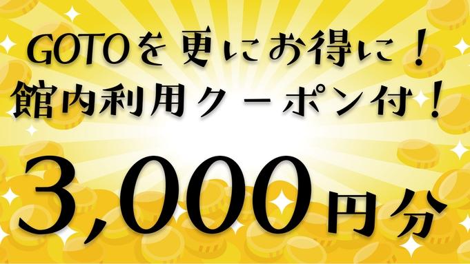 【館内利用クーポン3000円分付き】旅をお得に!素泊まりプラン