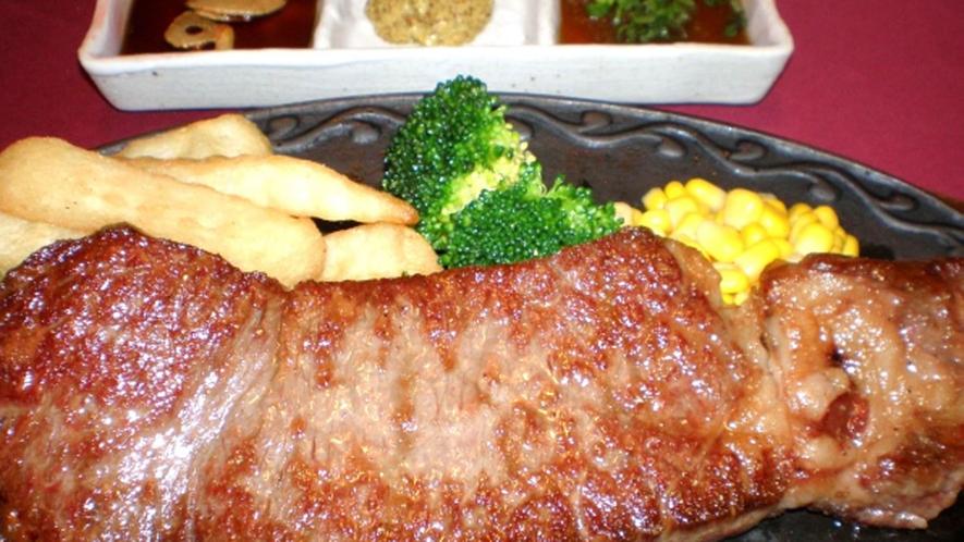 *【夕食】秋田牛サーロインステーキセット