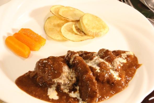 ☆黒毛牛和牛ビーフシチューに魚料理も付いたメインが二つの和洋食フルコース料理プラン☆