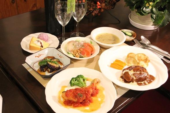 ☆牛フィレ肉のトルネードステーキ♪お肉にお魚料理も!メインが二つの和洋折衷フルコース料理プラン☆