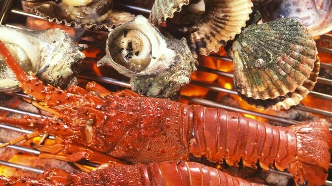 【ポイント10倍】特選海鮮♪名物伊勢えび浜島焼&ひらめ☆あわび台盛 !【海鮮大好物のお客様へ♪】