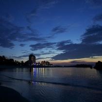 外観と夕日3