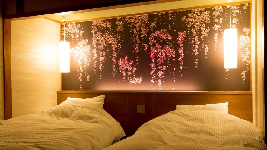 【高層階】和+ホテル機能 展望露天風呂付ツイン50㎡