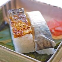 【和朝食一例】和朝食では名物の焼き鯖寿司もご堪能いただけます♪