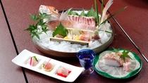 *お造り・お寿司等々…色んな調理法で若狭ぐじをご堪能下さい。