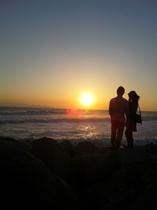 岬の夕映え