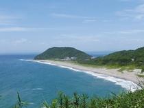 ここは南国?!愛知県とは思えない景色が望めます。渥美半島の伊良湖岬の恋路ヶ浜。