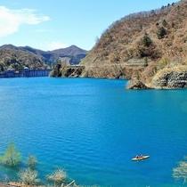 奥四万湖でカヌー体験ができるのは「グリーンディスカバリー」だけだから貸切りです!