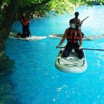 サーフボートをパドルで操る「SUP」体験!