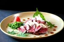 馬肉のたたき-追加料理