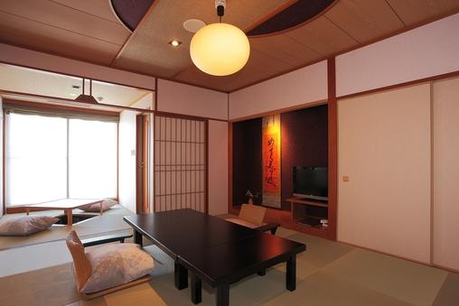 和室(露天風呂付)12畳+ベッドルーム(ツイン)=露天風呂付