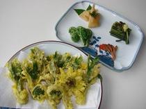 旬の食材であつあつ天ぷら