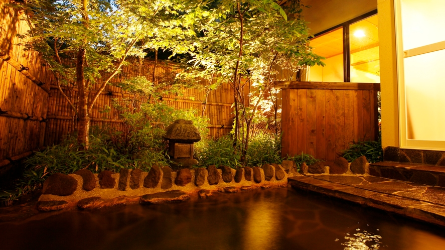 ★【阿蘇五岳館】客室露天風呂★夜景