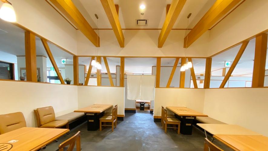 お食事処五岳:中央テーブル