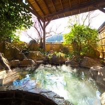 ■貸切展望露天風呂■ 花合野川沿いに面しています。