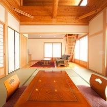 ■和洋室+ロフト■もみじ 広々とした空間のお部屋。
