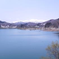 【景色】白川湖の美しさを眺めながら当館へ