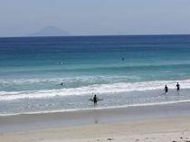 サーファーに人気の白浜海岸