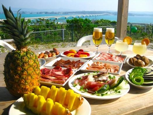 【夏期間♪】海と古宇利大橋を眺めながら、朝食、夕食BBQ付きプラン!