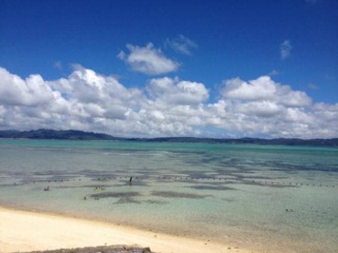 透明度の高い古宇利島の海