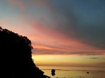 海側テラスから見る「夕焼け」