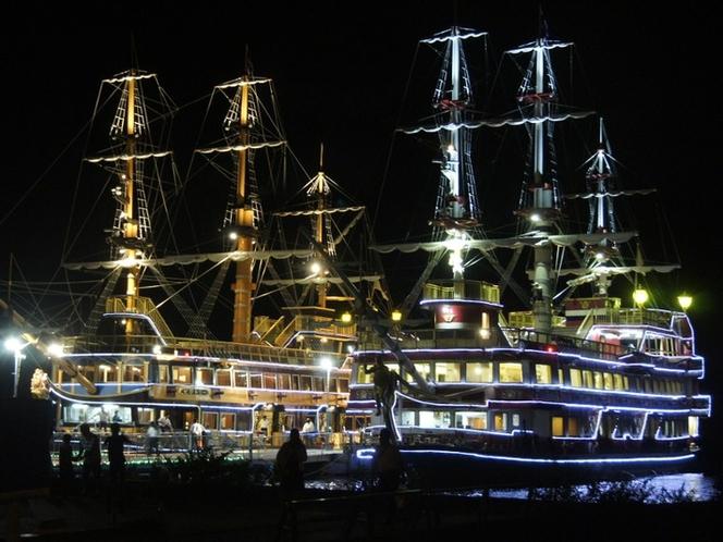 海賊船ライトアップ