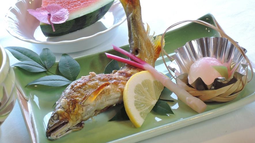 *【お料理】夕食一例。焼き魚