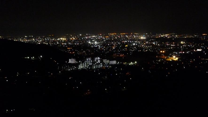 【景色】石巻山からみる夜景はキラキラしています!