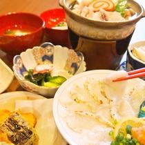 ふぐコース料理(一例)