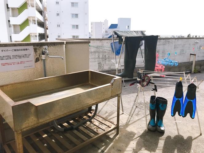 屋上 洗い場