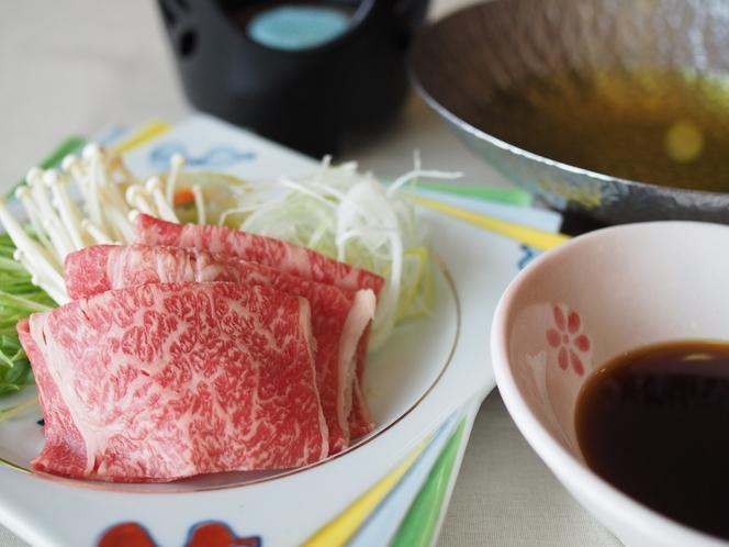 近江牛と地場産「こだかみ茶」のお茶しゃぶしゃぶ