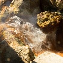 源泉かけ流しの岩風呂