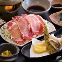 【夕食 一例】地元食材を活かしたスローフード