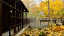 紅葉を楽しめる秋の露天風呂