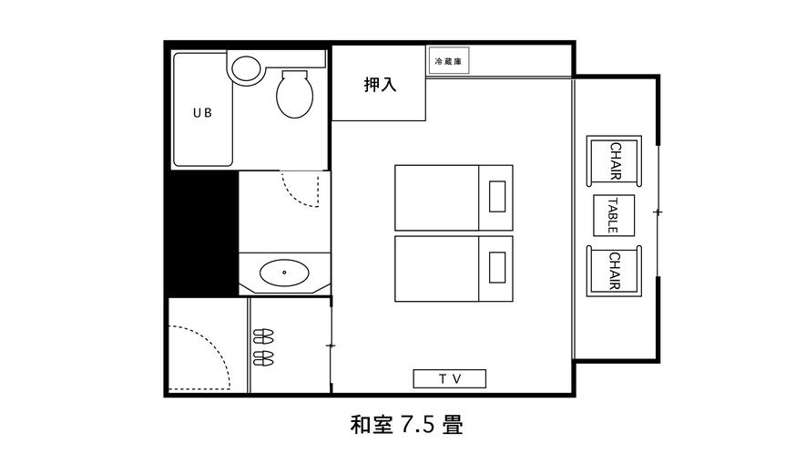 和室平面図