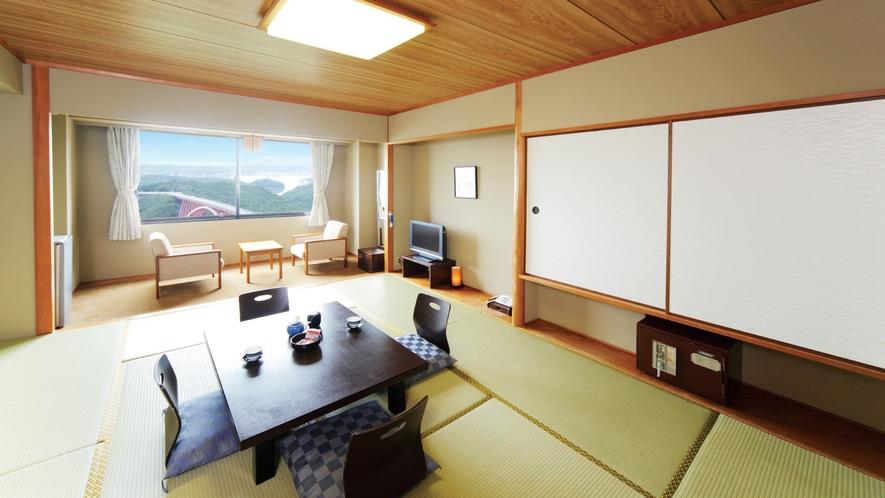 【和室】広々とした10畳の和室は小さなお子様を連れてのご旅行でも安心してご利用いただけるお部屋です。