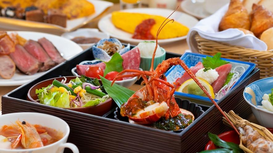 【朝食】ご朝食はホテル自慢の「ごっつぉ朝ごはん」!朝からお腹いっぱいお楽しみください♪