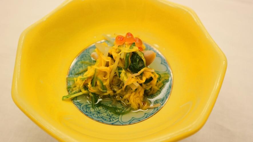 *夕食一例/「菊のおひたし」山形は食用ぎくの生産量が日本一!