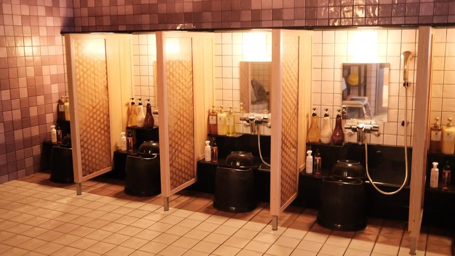 女性大浴場/カラン(洗い場6か所)