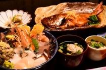 海鮮丼夕食一例(金目鯛は2~3名に1匹)