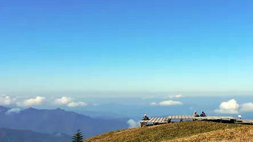 *【剣山/景色】空気が澄んでおり、登った人にしか見ることのできない絶景です!