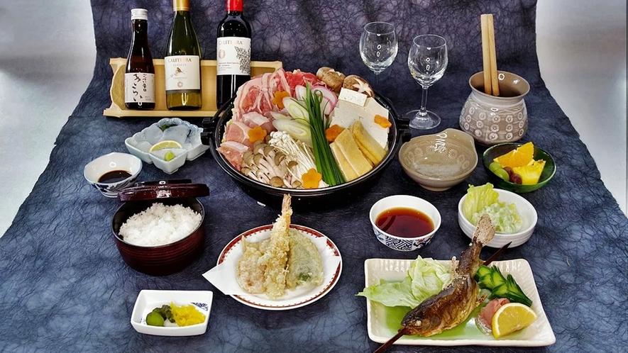 *【お食事一例】つるぎ町ならではの旬の食材をたっぷり使用した、人気の郷土お料理です!