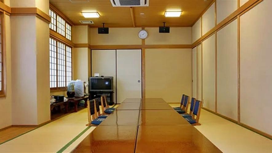 *【大広間/和室24畳】同窓会、法要、各種会合ご利用いただけます。最大20台の駐車可能◎