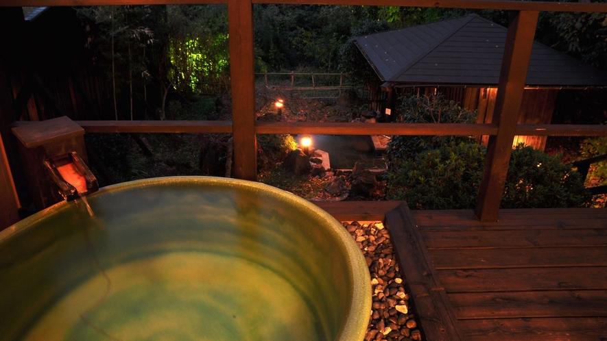 【煌】テラスの露天風呂