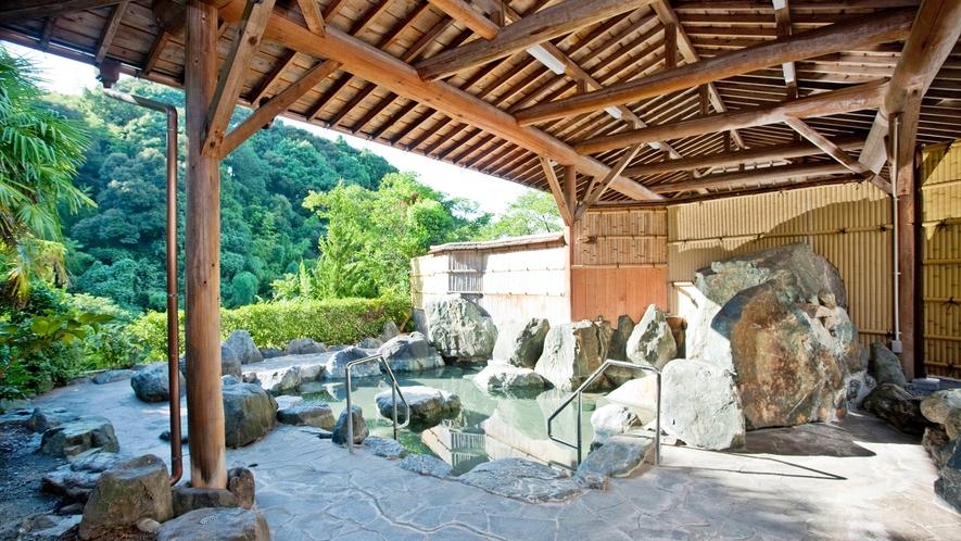 *【露天風呂】大黒山山麓に湧く湯の川温泉。