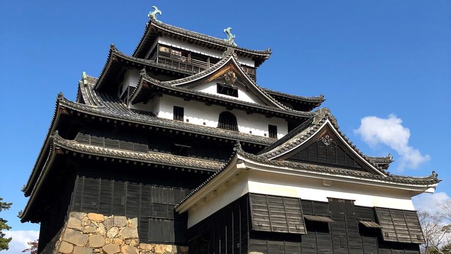 *【松江城】当館から車で約30分。唯一の正統天守ともいわれています。