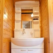 コテージA 洗面台